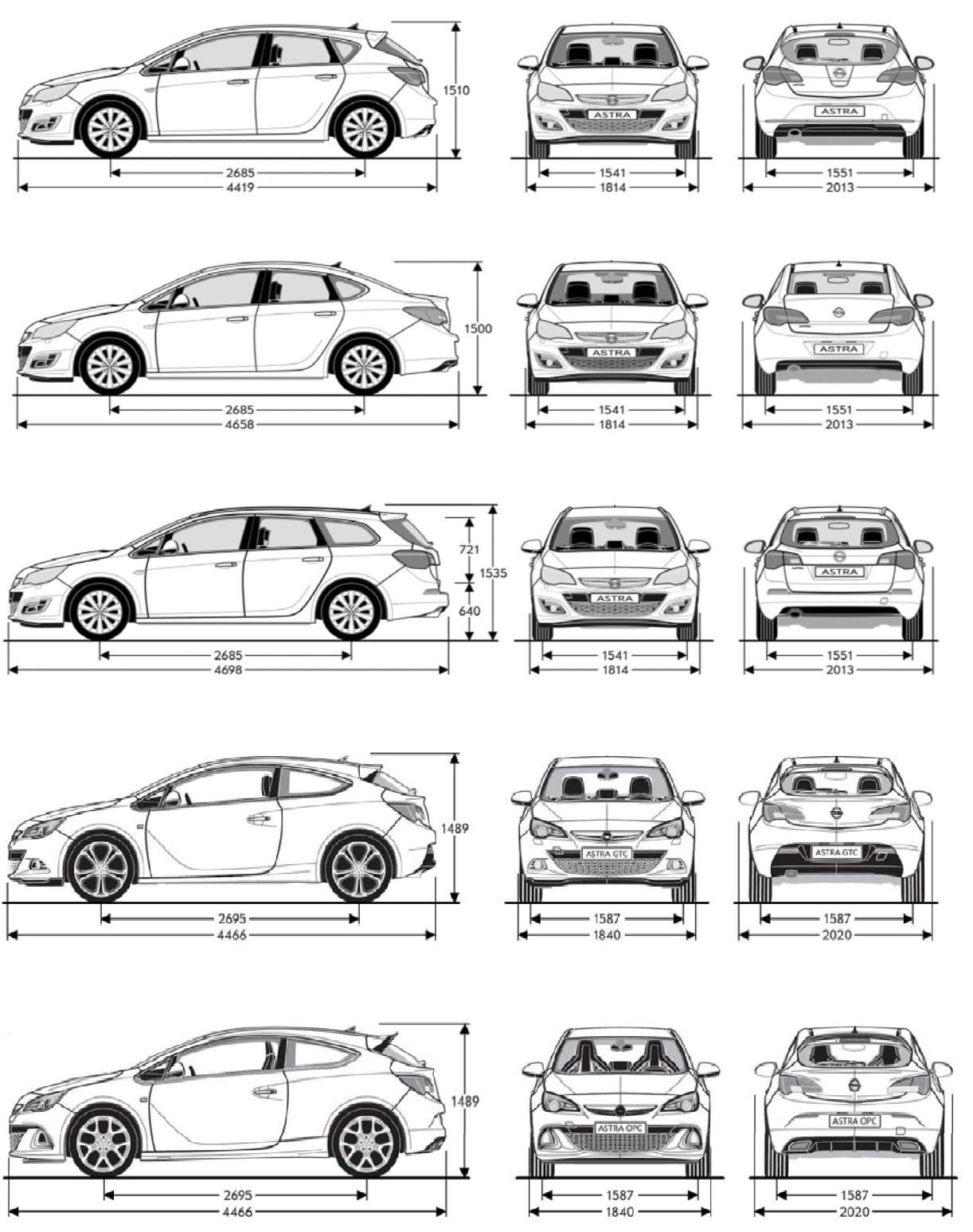 Technické Data Opel Astra J Astra Rasagmawebeu